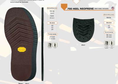 700 TYGUM NEOPRENE SOLE & HEEL